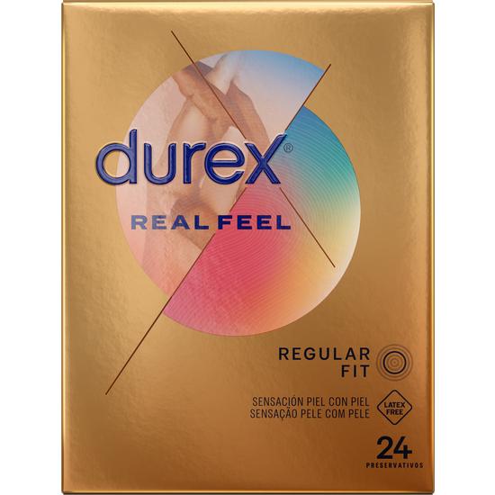 Comprar  DUREX REAL FEEL 24 UDS DUREX los preservativos sensitivos de las mejores marcas para alcanzar el máximo placer sin perder ninguna sensación al usar el preservativo. Tienda erótica donde podrá comprar online los mejores modelos de preservativos con precios sin competencia.