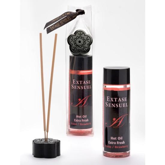 Comprar EXTASE SENSUEL ACEITE DE MASAJE EFECTO EXTRA FRESH FRESA EXTASE SENSUEL Comprar aceites y lubricantes eróticos de la marca Extase Sensuel