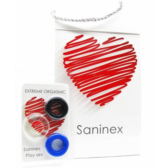 Comprar  SANINEX ANILLOS EXTREME ORGASMIC SANINEX Comprar aceites y lubricantes eróticos de la marca Saninex