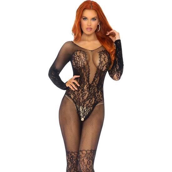 Comprar  BODY DE MALLA CON ENCAJE NEGRO LEG AVENUE Lencería erótica y sexy marca Leg Avenue, una de las más prestigiosas empresas de moda erótica del mundo