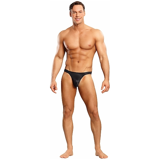 comprar MALE POWER TANGA NEGRO SATINADO